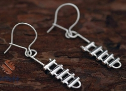 Silver Rappel Rack Earrings - Product Image