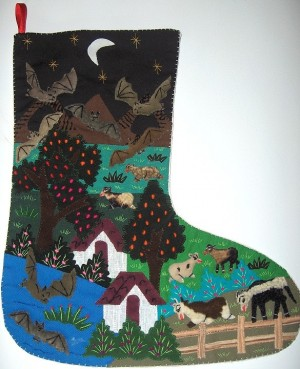 Arpilleras Holiday Stocking - Product Image