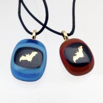 Artisan Glass Bat Pendant - Product Image