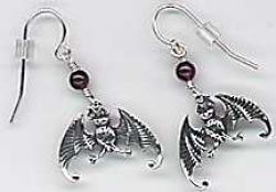 Edward Gorey Sterling Earrings - Product Image