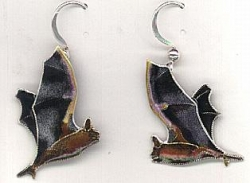 Fishing Bat Drop Earrings by Bamboo - Product Image