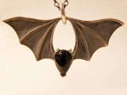 Large Bridge Bat Pendant - Product Image