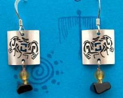 Mimbres Style Bat Earrings or Pendant - Product Image