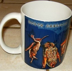 North American Bats Mug (Blue Background) - Product Image