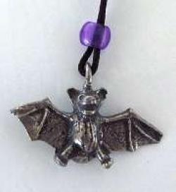 Pewter Bat Pendant - Product Image