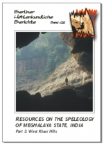 Resources on the Speleology of Meghalaya State, India. Part 3: West Khasi Hills, BHB Vol. 42 - Product Image