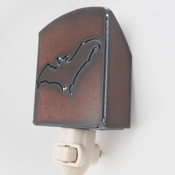 Rustic Bat Night Light - Product Image