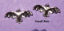 Silver or Gold Plate Bat Studs - Product Image