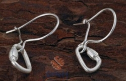 Silver Carabiner Hook Earrings - Product Image