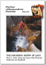 The Unknown North of Laos. Part 4 - 2011: Karst and Caves of the Provinces Oudomxay and Sayabouli, BHB Vol. 44 - Product Image