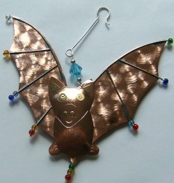 Hand Crafted Bat Ornament - Product Image