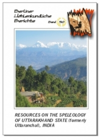 Resources on the Speleology of Uttarakhand State (formerly Uttaranchal), India.BHB Volume 50 Special Order - Product Image