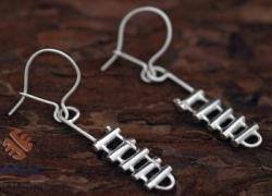 Silver Rappel Rack Earrings - Product Image