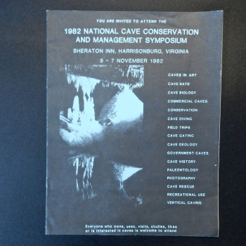 1982 National Cave Conservation and Management Symposium invitation - Product Image