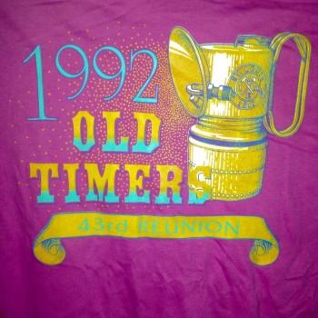1992 OTR Short Sleeve Shirt Dark Pink - Product Image