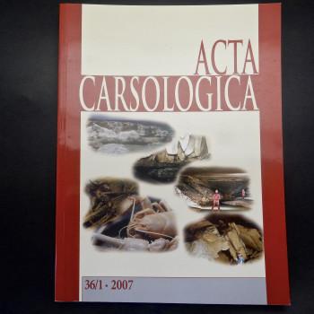 Acta Carsologiaca, 2007 Volume 36 # 1, 2, 3 - Product Image