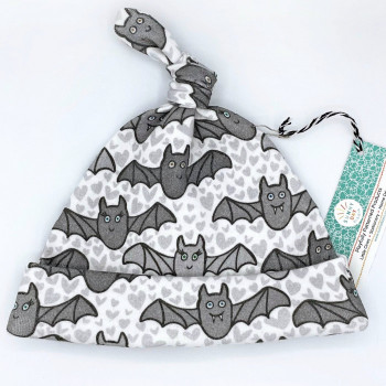 Benevolent Bats Organic Cotton Baby Hat (Newborn) - Product Image