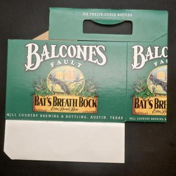 6 pack package, Balcones Fault Bat's Breath Bock - Product Image