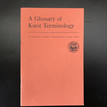 A Glossary of Karst Terminology - Product Image