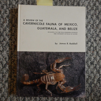 A Review Of The Caverinicole Fauna Of Mexico, Guatemala, And Belize- SOLD - Product Image