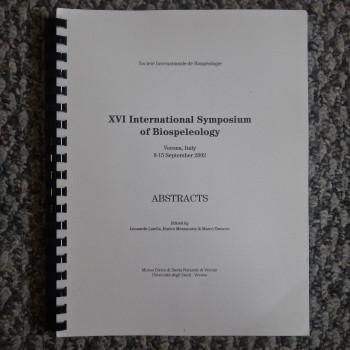 Abstracts XVI International Symposium of Biospeleology - Product Image