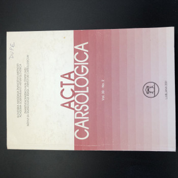 Acta Carsologica volume 30 #2, 2001, 9th International Karstological School - Product Image