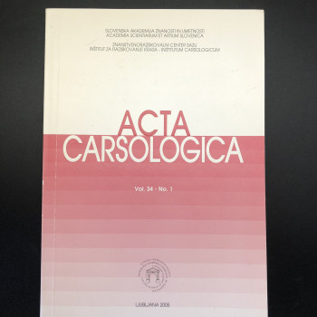 Acta Carsologica volume 34 #1, 2005 - Product Image