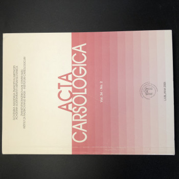 Acta Carsologica volume 34 #2, 2005 - Product Image