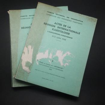 Actes De La Reunion Internationale Karstologie, 1968 - Product Image