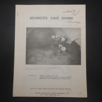 Advanced Cave Diving, 1971 - Product Image