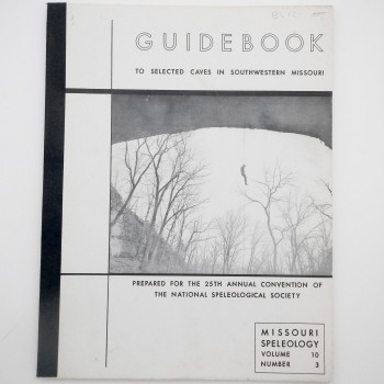 Guidebook to Selected Caves In Southwestern Missouri (Missouri 1968) - Product Image