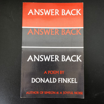 Answer Back a Poem  - Product Image