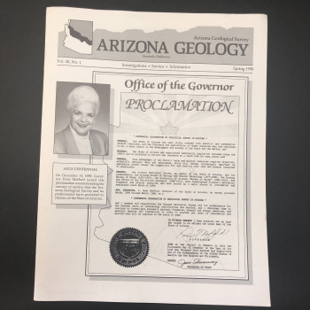 Arizona Geology Spring 1990 (4 pages on Kartchner) - Product Image
