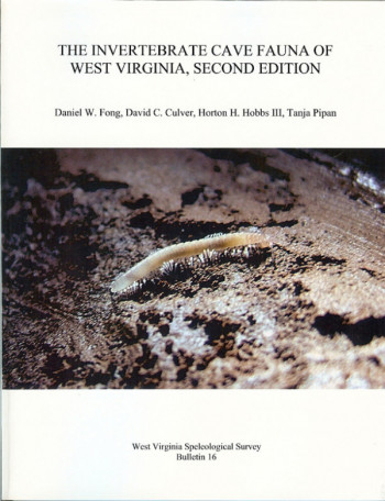 BULLETIN 16 -- The Invertebrate Cave Fauna of West Virginia - Product Image
