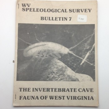 BULLETIN 7 -- The Invertebrate Cave Fauna of West Virginia  - Product Image