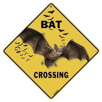 Bat Crossing Sign - Product Image