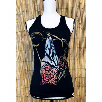Bat Hand Painted Women's Yoga Tank - Product Image