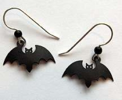 Bat Silhouette Earrings - Product Image