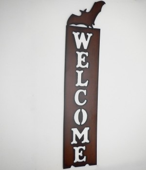 Bat Welcome Sign - Product Image