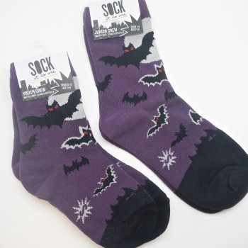 Batnado Infant, Youth & Junior Crew Socks (Glow In The Dark) - Product Image