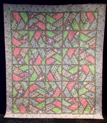 """Bats Hiding In The Garden 96"""" by 83"""" Quilt - Product Image"""