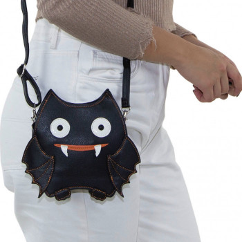 Black Bat Cross Body Bag - Product Image
