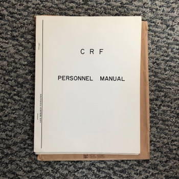 CRF Personel Manuel, 1967 first edition - Product Image