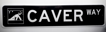 Caver Way Street Sign OUT OF STOCK - Product Image