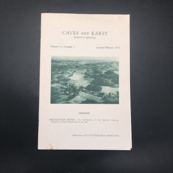 Caves and Karst; Research in Speleology - Product Image