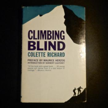 Climbing Blind by Colette Richard (Unbound prepublication copy) - Product Image