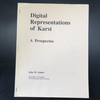 Digital Representations of Karst: A Prospectus - Product Image