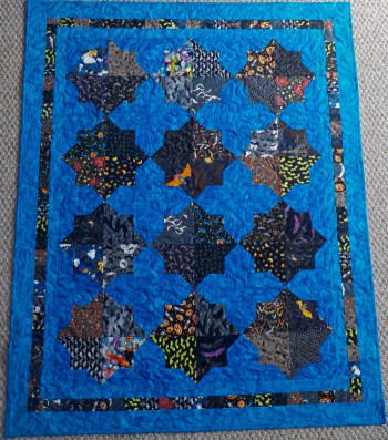 """Double Square Bats 47"""" by 58"""" Quilt - Product Image"""