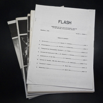 FLASH: Newsletter of the Cave Photography Section. Vol 1 #1 1984 to Vol 4 #2 - Product Image