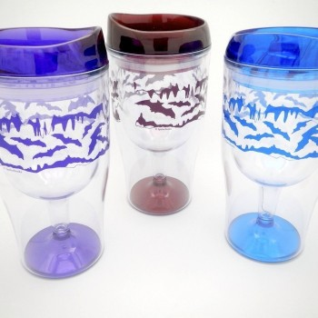 Flying Bats Wine Travel Tumbler - Product Image